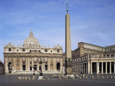 St. Peter's and St. Peter's Square, Vatican, Rome, Lazio, Italy