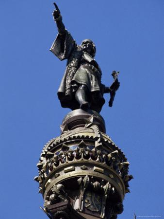 Statue of Christopher Columbus, Barcelona, Catalonia, Spain by Peter Scholey