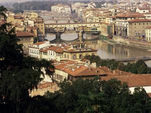 View Over the City Including the River Arno, Florence, Italy by Peter Scholey