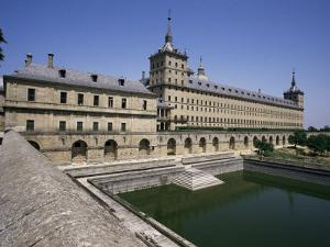 Western Facade, Escorial, Unesco World Heritage Site, Madrid, Spain by Peter Scholey