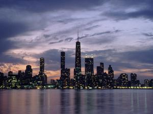 Chicago Skyline and Lake, IL by Peter Schulz