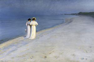 Summer Evening on Skagen's Southern Beach – 1893 by Peter Severin Kroyer