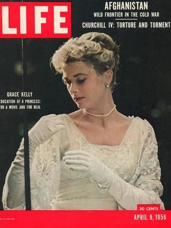 Actress and Princess of Monaco, Grace Kelly, April 9, 1956