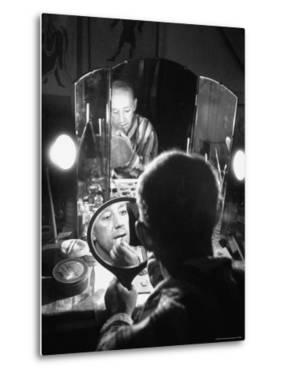 Alec Guiness Putting on His Make Up in Dressing Room at the Stratford Shakespeare Festival by Peter Stackpole