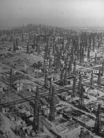 An Aerial View of the Signal Hill Oil Field