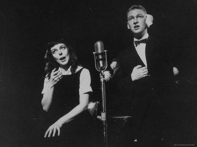"""Elaine May and Mike Nichols Appearing at the """"Blue Angel"""""""