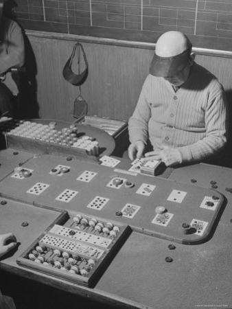 Faro Game in Progress in Las Vegas Casino by Peter Stackpole
