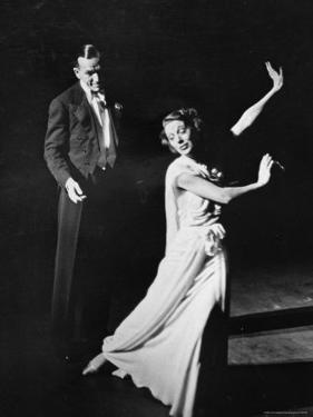 """Gertrude Lawrence and Noel Coward in Play """"Tonight at 8:30"""" by Peter Stackpole"""