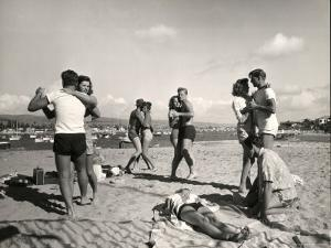 Glendale Junior College Students Dancing to Music From a Portable Radio on Balboa Beach by Peter Stackpole