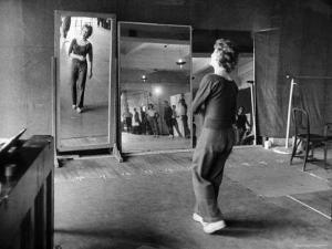 Gwen Verdon Rehearsing for the Broadway Musical Damn Yankees by Peter Stackpole