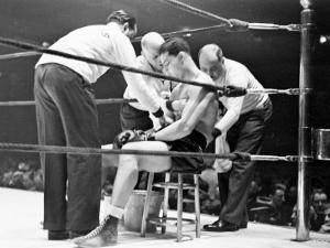 Joe Louis, Negro Boxer Fighting Perry by Peter Stackpole