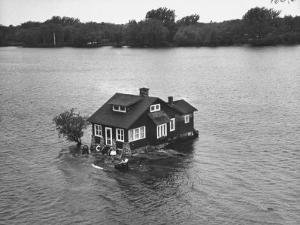 Just Room Enough Island, One of Thousand Islands in St. Lawrence River by Peter Stackpole