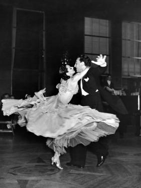 Professional Dancers Waltzing During a Show at the Rainbow Room Above Rockefeller Center by Peter Stackpole