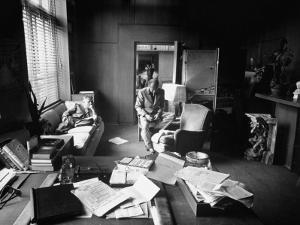 Screenwriter Charles Brackett and Director Billy Wilder Working in Studio Office by Peter Stackpole