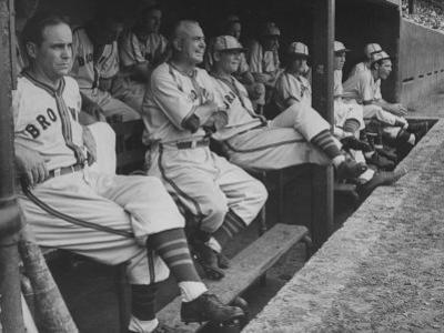 St. Louis Browns Players Sitting in the Dug Out During a Game by Peter Stackpole