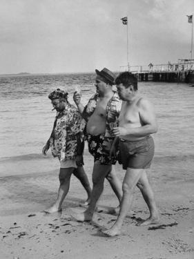Sylvania Seabreeze Cruise, Passengers Taking a Stroll on the Beach by Peter Stackpole