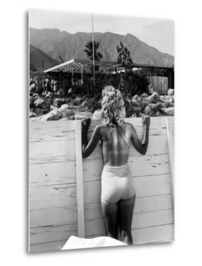 Tennis Star Eleanor Cushingham Using Industrial Designer Raymond Loewy's Solarium to Sunbathe by Peter Stackpole