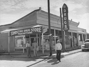 Tombstone Drug Store by Peter Stackpole