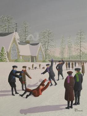School Yard Sliding by Peter Szumowski