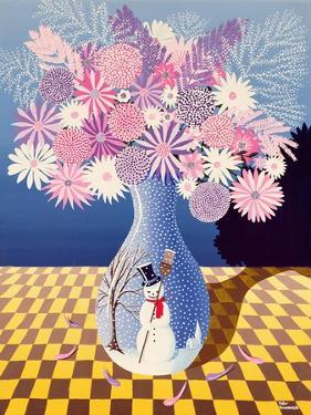 Snowman Vase by Peter Szumowski
