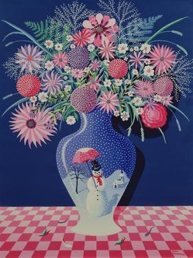 The Snowman Vase I by Peter Szumowski