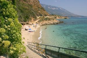 Agios Thomas Beach, Kefalonia, Greece by Peter Thompson