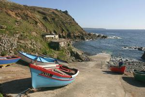 Boats on the Slipway at Cape Cornwall, Cornwall by Peter Thompson