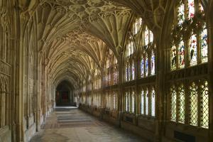 Cloisters, Gloucester Cathedral, Gloucestershire by Peter Thompson