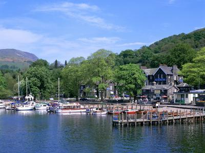 Departure Point for Lake Steamer Cruises, Waterhead, Lake Windermere, Lake District, Cumbria