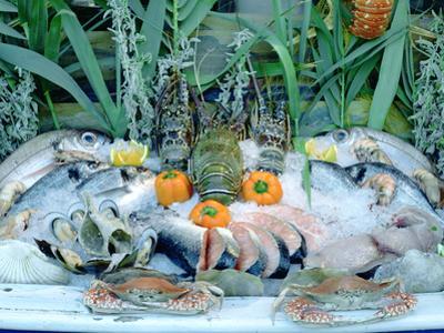Fish Restaurant Display, Rethymnon, Crete, Greece