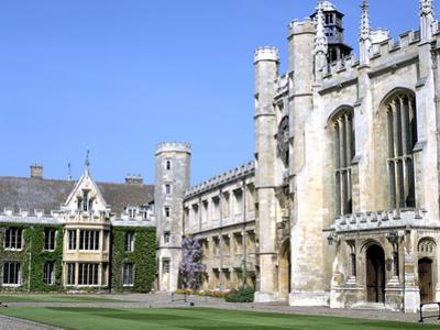 Inside the Great Court, Trinity College, Cambridge, Cambridgeshire