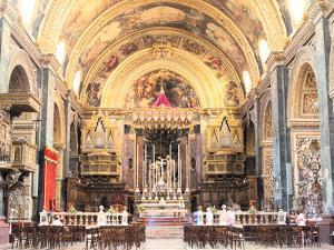 Interior of St Johns Co-Cathedral, Valletta, Malta by Peter Thompson