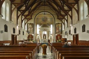 Interior of St Marys Catholic Church, Belfast, Northern Ireland, 2010 by Peter Thompson