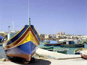 Marsaxlokk Harbour, Malta by Peter Thompson