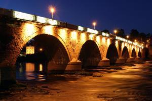 Old Bridge at Night, Perth, Scotland by Peter Thompson