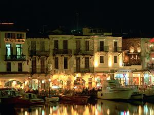 Old Harbour at Night, Rethymnon, Crete, Greece by Peter Thompson