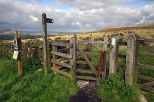 Public Footpath Sign and Kissing Gate, Longridge Fell, Lancashire by Peter Thompson
