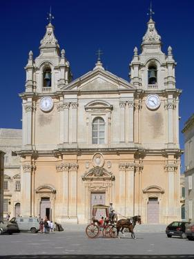 St Pauls Cathedral, Mdina, Malta by Peter Thompson