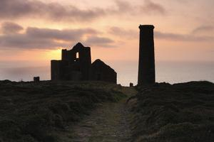 Sunset, Wheal Coates Tin Mine, St Agnes, Cornwall, 2009 by Peter Thompson