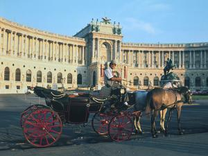The Hofburg with Carriage, Vienna, Austria by Peter Thompson