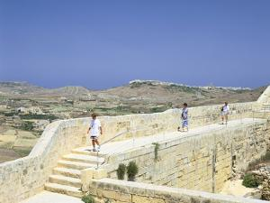 The Path around the Walls of the Citadel, Victoria, Gozo, Malta by Peter Thompson