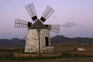 Windmill Near Tefia, Fuerteventura, Canary Islands by Peter Thompson