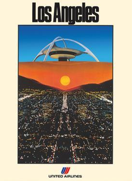 Los Angeles - United Air Lines - LAX Theme Building by Peter Turner