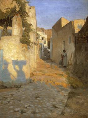 A Street Scene in Tunisia, 1891 by Peter Vilhelm Ilsted