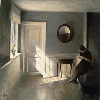 Girl Reading a Letter in an Interior, 1908