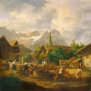 Morning in Partenkirchen, 1819 by Peter Von Hess