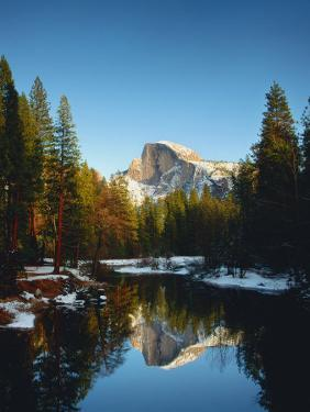 Half Dome Reflected in Merced River, Yosemite National Park by Peter Walton