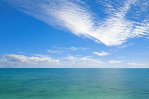 Cirrocumulus and Cumulus Clouds over the Indian Ocean near Broome, Western Australia by Peter Walton Photography
