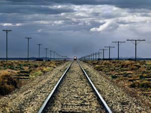 Train Near Flinders Ranges, Australia by Peter Walton