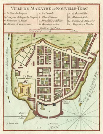Petite Map of Manhattan, New York